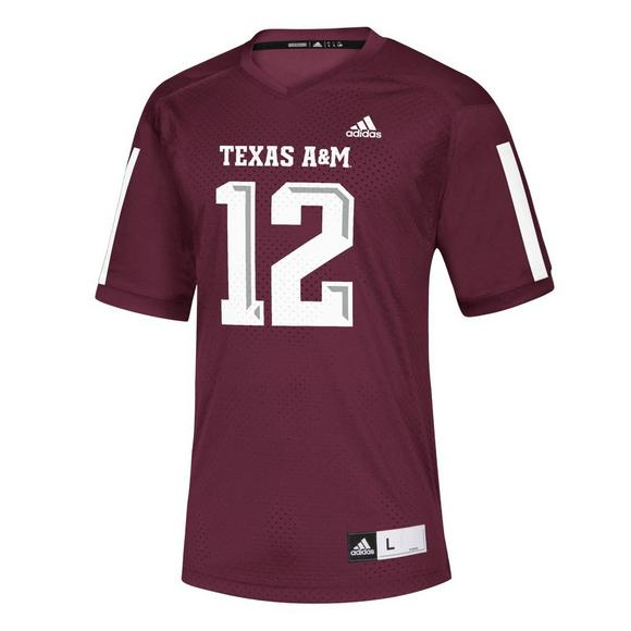 adidas Men s Texas A M Aggies NCAA Replica Jersey - Main Container ... 7a8c365ee