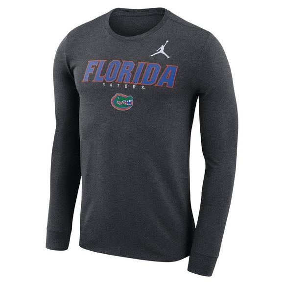 d1952674439d Jordan Men s Florida Gators Dri-Fit Authentic Wordmark Long-Sleeve T-Shirt -