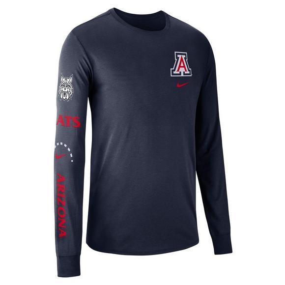 quality design fa23a da896 Nike Men's Arizona Wildcats Basketball Elevated Long-Sleeve ...