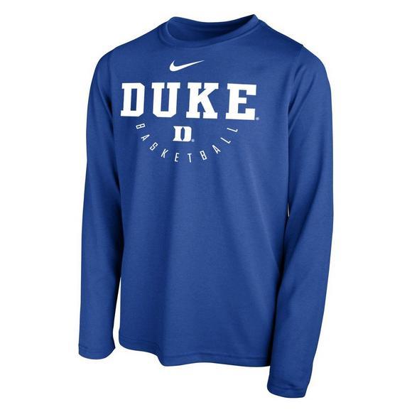 Nike Youth Duke Blue Devils Basketball Key Long Sleeve Tee Hibbett Us