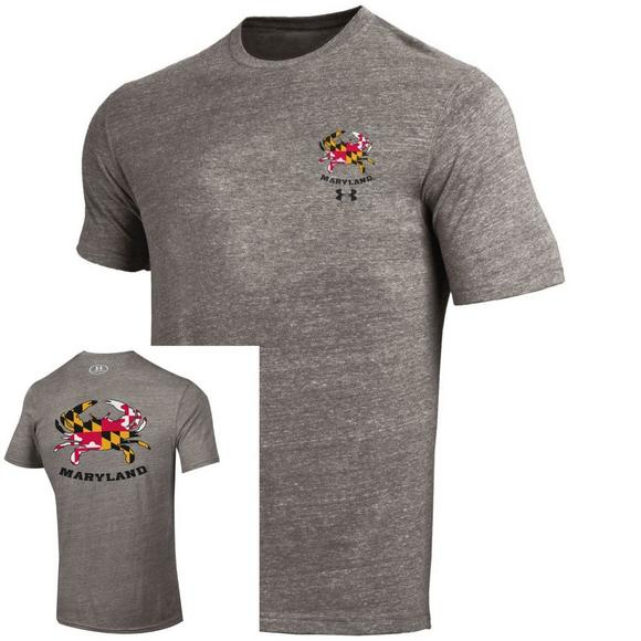 45d183906 Under Amrour Men's Maryland Terrapins Tri-Blend Short-Sleeve Tee - Main  Container Image