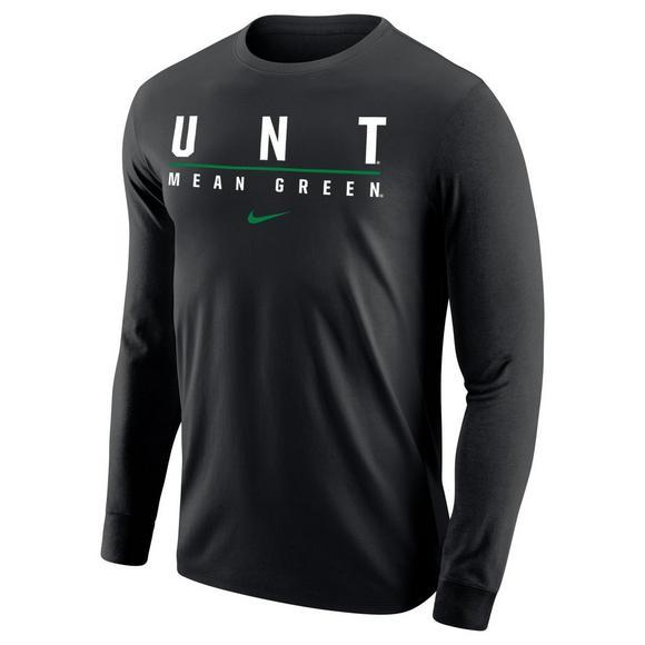 99f840bef8cca Nike Men's North Texas Mean Green Wordmark Long Sleeve T-Shirt ...