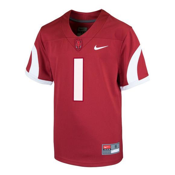 new styles 62bae aeeb1 Nike Youth Arkansas Razorbacks #1 Jersey