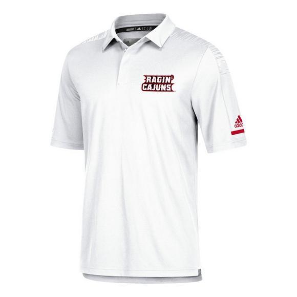 sports shoes 15c9a 7b538 adidas Men's Louisiana Lafayette Ragin' Cajuns Coaches Polo Shirt