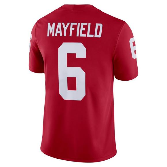 9f9cebf2d3c Jordan Men's Oklahoma Sooners Baker Mayfield Game Jersey - Main Container  Image 2