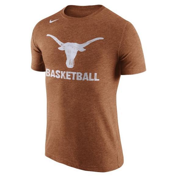 wholesale dealer dea98 0c4f5 Nike Men s Texas Longhorns Tri-Blend T-Shirt - Main Container Image 1