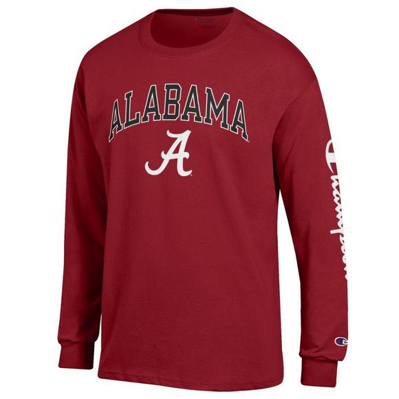 23b546097 Champion Men's Alabama Crimson Tide Co-Branded Long Sleeve Tee - Main  Container Image 1