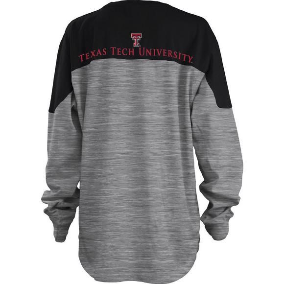 19a43540 Pressbox Women's Texas Tech Red Raiders Space Dye Sweeper T-Shirt