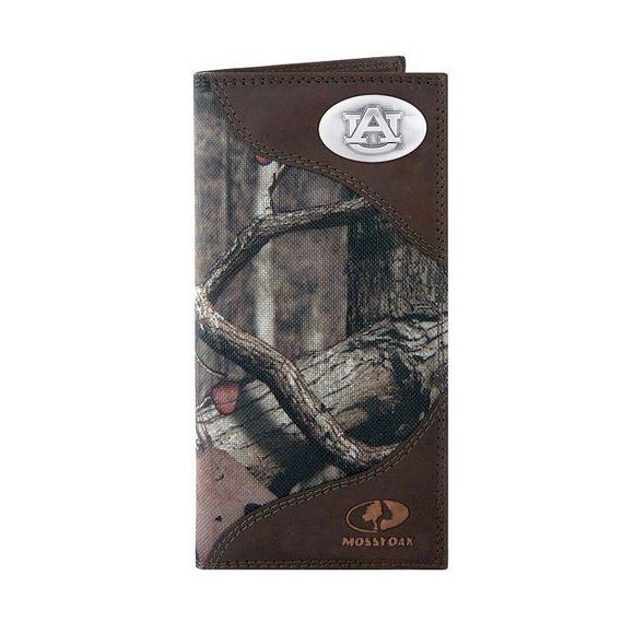 4c0e7ed97f69 Zep-Pro Auburn Tigers Tall Leather Wallet (Mossy Oak) - Main Container Image