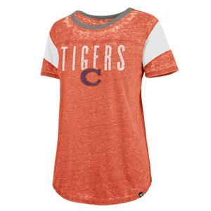 47 Brand Women s Clemson Tigers Vault Fadeout Boyfriend Short Sleeve Tee f8f6167746