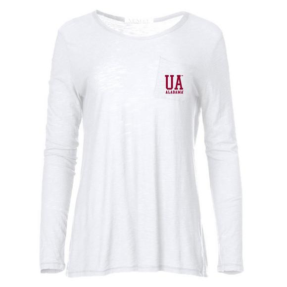 Venley Women s Alabama Crimson Tide Roseslub Pocket Long Sleeve T-Shirt -  Main Container Image 199dcd7f9