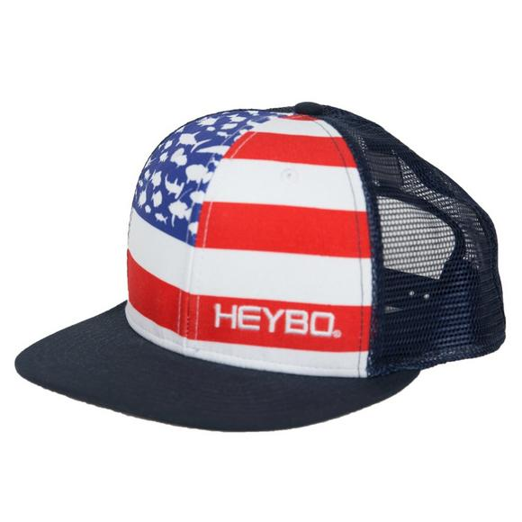 8ce63d7a Heybo USA Fish Flag Trucker Hat - Main Container Image 1
