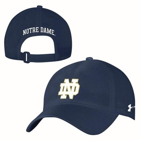 san francisco f4b68 5aa97 Under Armour Notre Dame Fighting Irish Airvent Alloy Adjustable Hat - Main  Container Image 2