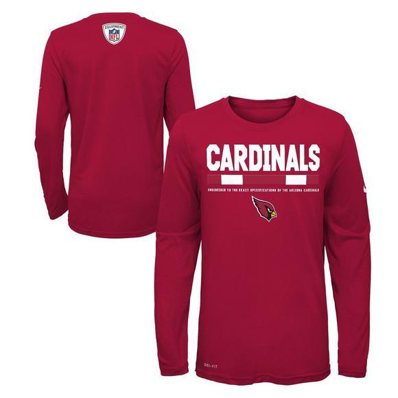 timeless design c4c69 5cdd2 Nike Youth Arizona Cardinals Staff Long Sleeve T-Shirt ...