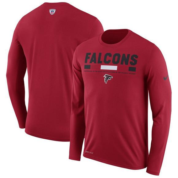 best website e4393 d838c Nike Youth Atlanta Falcons Legend Staff LS Tee Shirt ...