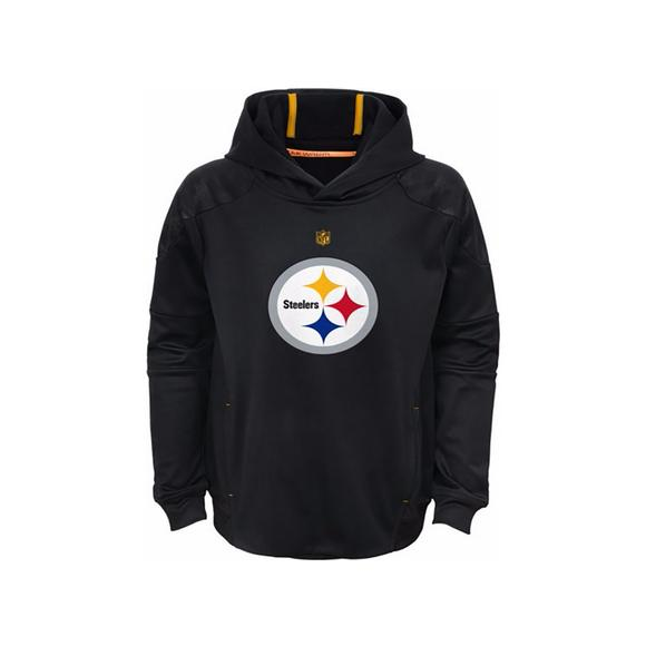 b97f410a0d9 NFL Youth Pittsburgh Steelers Mach Pullover Hoodie - Main Container Image 1