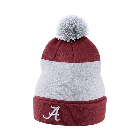 huge selection of f3f1a ef795 Nike Alabama Crimson Tide Sideline Beanie POM Knit Hat - Main Container  Image 1