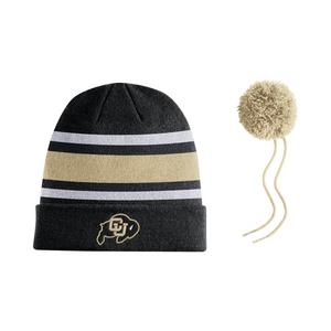 100% authentic 985ab ada5a Nike Colorado Buffaloes Sideline Beanie POM Knit Hat