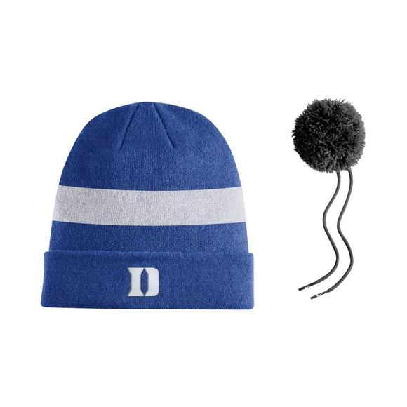 best website a56ee 2cf7b Nike Duke Blue Devils Sideline Beanie POM Knit Hat - Main Container Image 2