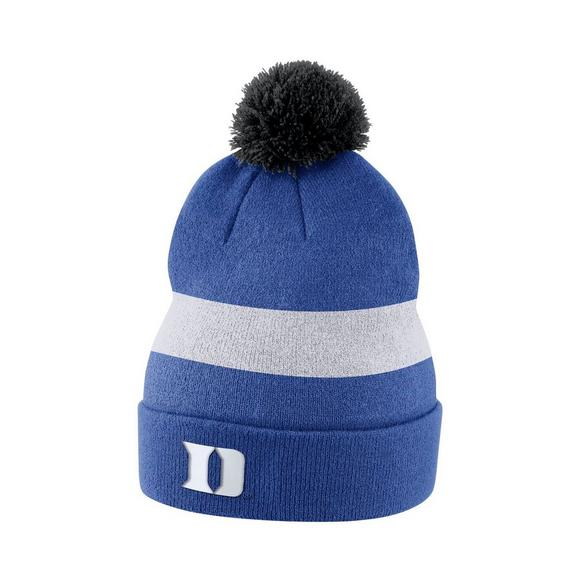 f9f00ce503b Nike Duke Blue Devils Sideline Beanie POM Knit Hat - Main Container Image 1