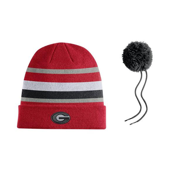 6b7df044876 Nike Georgia Bulldogs Sideline Beanie POM Knit Hat - Main Container Image 2