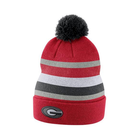 c0241815bef Nike Georgia Bulldogs Sideline Beanie POM Knit Hat - Main Container Image 1