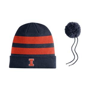 new concept bdb30 a9042 ... reduced nike illinois fighting illini sideline beanie pom knit hat  ef12d 3e13f
