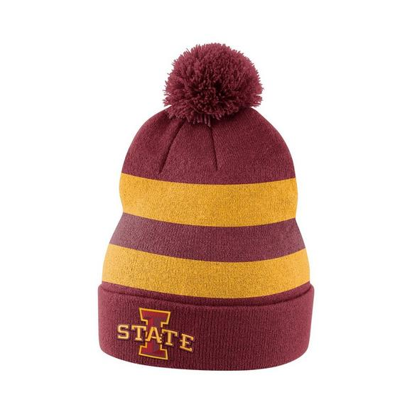 buy online 8a4dc de1d3 ... best price nike iowa state cyclones sideline beanie pom knit hat main  container image 1 2397b