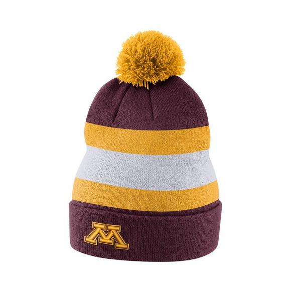 new style 811c9 9b897 Nike Minnesota Golden Gophers Sideline Beanie POM Knit Hat - Main Container  Image 1