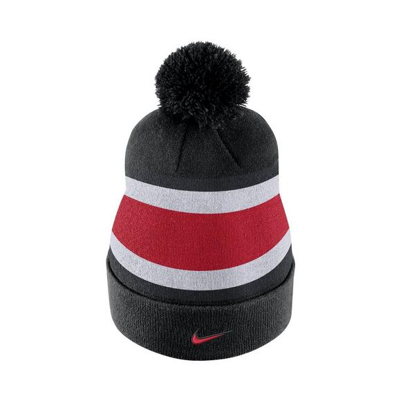 best website d3df3 f6f41 ... alabama crimson tide penn state nittany lions free shipping nike ohio  state buckeyes sideline beanie pom knit hat main container image 3 e1329 ...