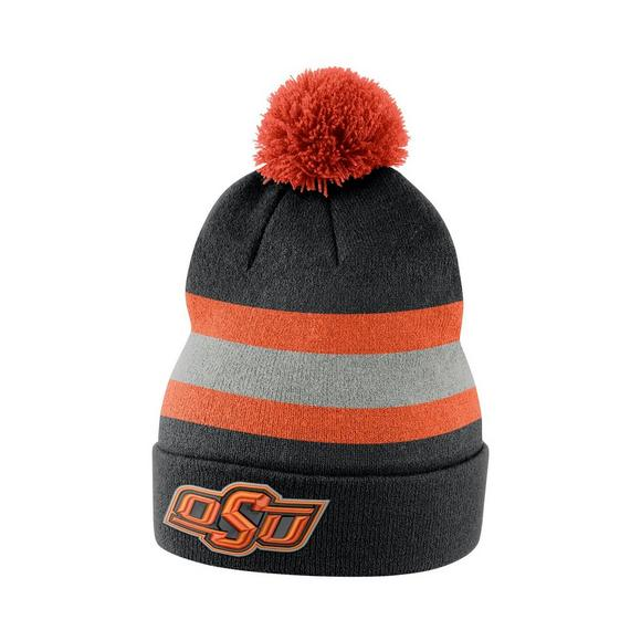 Nike Oklahoma State Cowboys Sideline Beanie POM Knit Hat - Main Container  Image 1 7540f3f94d3