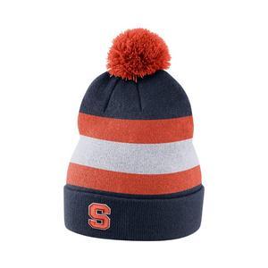 new styles 8e50a 6a195 ... promo code for nike syracuse orange sideline beanie pom knit hat 4f761  60026