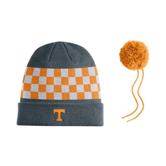 Nike Tennessee Volunteers Sideline Beanie POM Knit Hat - Main Container  Image 2 38e8ca070b70