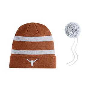 best service fe730 49b84 ... where to buy nike texas longhorns sideline beanie pom knit hat 98202  767a4