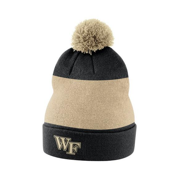 5144272ecbb ... discount code for nike wake forest demon deacons sideline beanie pom  knit hat main container image