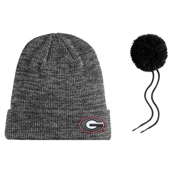 Nike Georgia Bulldogs Heather Beanie Pom Knit Hat - Main Container Image 2 13ea8875d7a