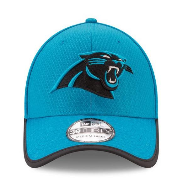 low priced dd0a3 bba8e New Era Carolina Panthers Training Camp Official 39THIRTY Flex Hat - Main  Container Image 2