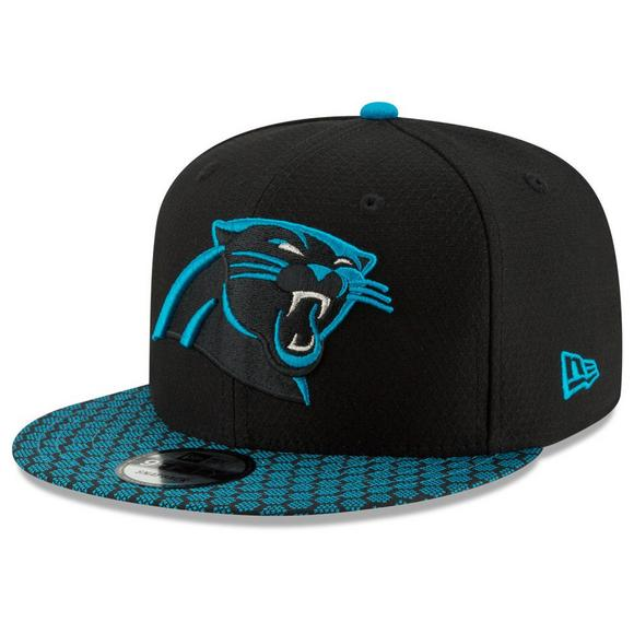 0a97a4a2 New Era Men's Carolina Panthers NFL Official Sideline Snapback Cap