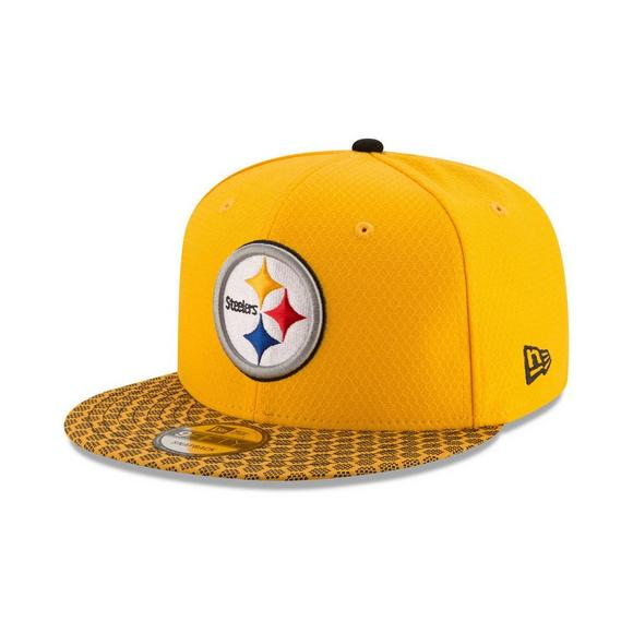 5a9d73630 New Era Sideline Pittsburgh Steelers Snapback Hat - Main Container Image 1