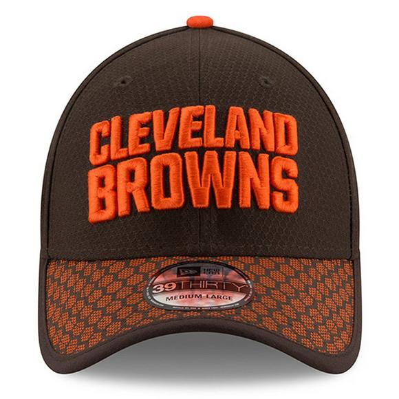 e8cf9af720f New Era Cleveland Browns Sideline Official 39THIRTY Flex Hat - Main  Container Image 2