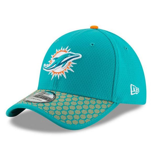 95a148f2d New Era Miami Dolphins Sideline Official 39THIRTY Flex Hat - Main Container  Image 1