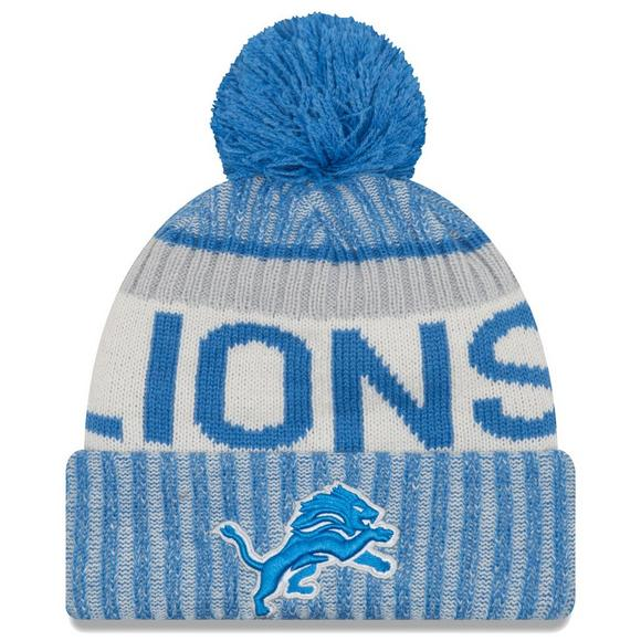 info for f3e4d b01b7 New Era Men s Detroit Lions Sideline Official Sport Knit Hat - Main  Container Image 1