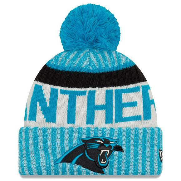 ae9a07669dbc8a New Era Men's Carolina Panthers Sideline Official Sport Knit Hat - Main  Container Image 1