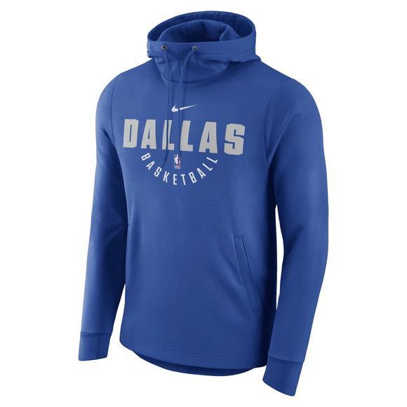 new product 2b185 abe30 Nike Men's Dallas Mavericks Therma NBA Hoodie - Hibbett ...