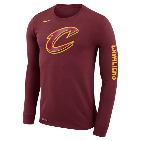 45a5a55d Nike Men's Cleveland Cavaliers Dry Logo Long Sleeve T-Shirt - Main  Container Image 1