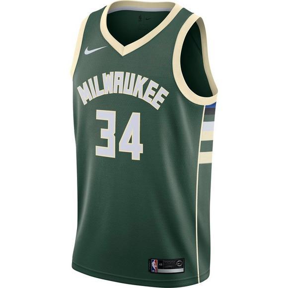 e33250b079c Nike Men s Milwaukee Bucks G. Antetokounmpo Icon Edition Swingman Jersey -  Main Container Image 1