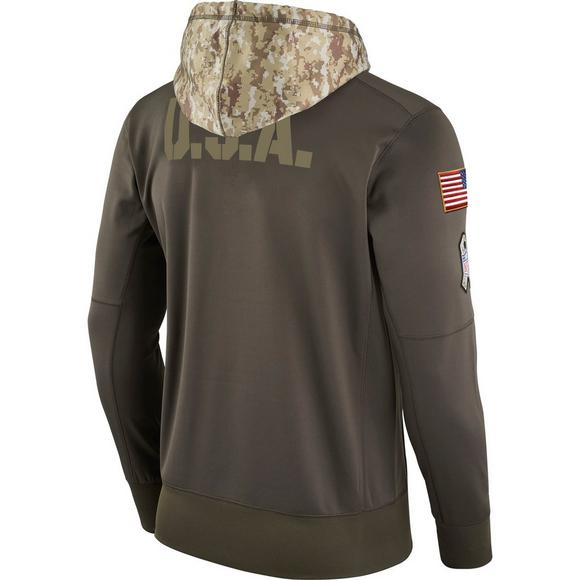 Nike Men s New Orleans Saints Salute to Service Therma-Fit Hoodie - Main  Container Image 0a6b5f8e91