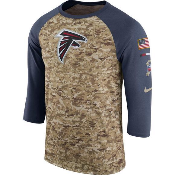 newest 03c40 46a39 Nike Men's Atlanta Falcons Salute to Service Raglan T-Shirt ...