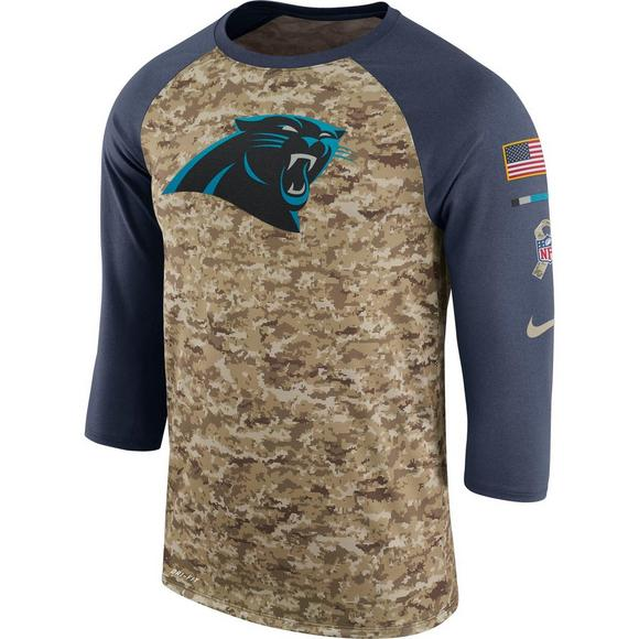 new arrival 1c7f0 6caf5 Nike Men's Carolina Panthers Salute to Service Raglan T ...