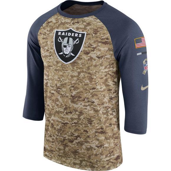 cce40064 Nike Men's Oakland Raiders Salute to Service Raglan T-Shirt - Hibbett US